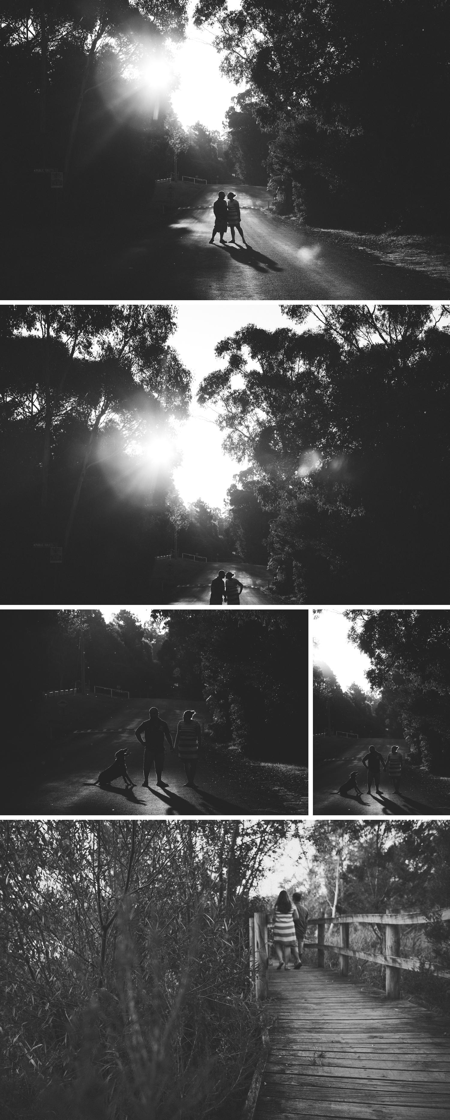 Lake Narracan Gippsland Engagement Shoot, Black and White Engagement Photo by Danae Studios