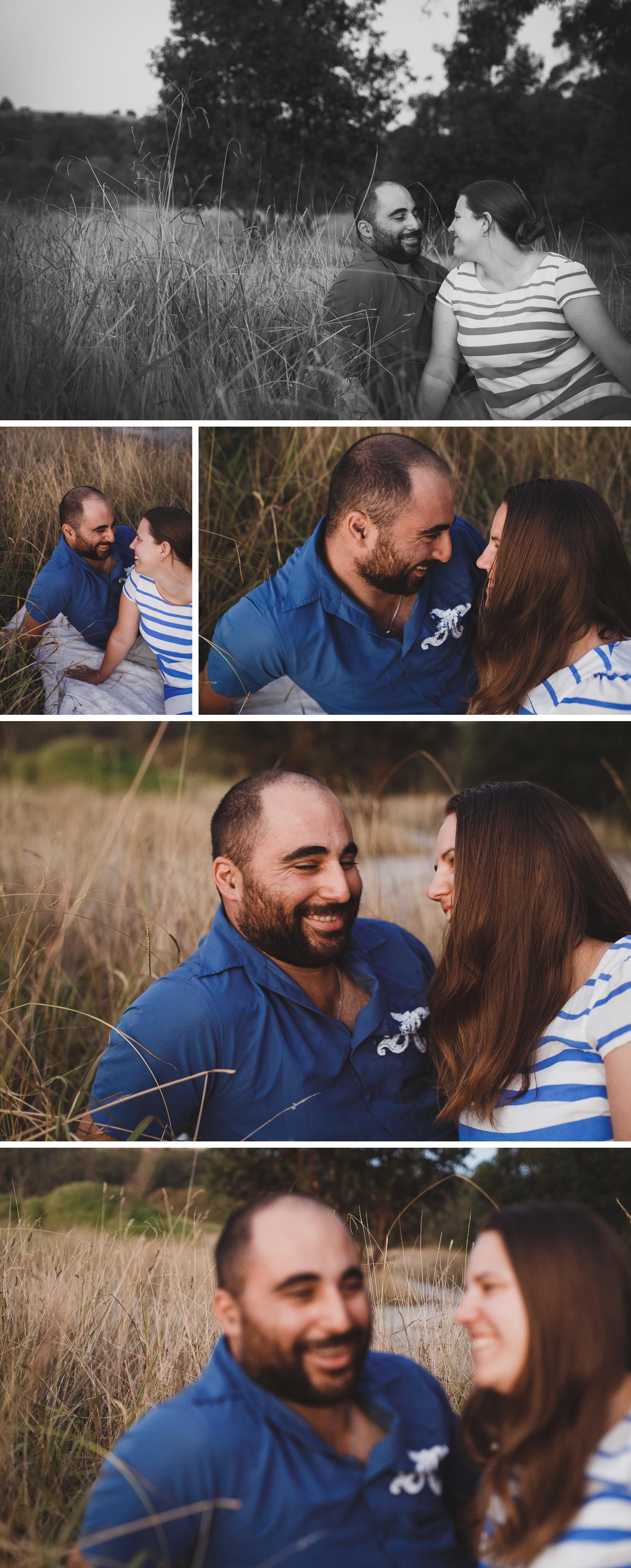 Lake Narracan Gippsland Engagement Shoot, Couple Embracing Engagement Photo by Danae Studios