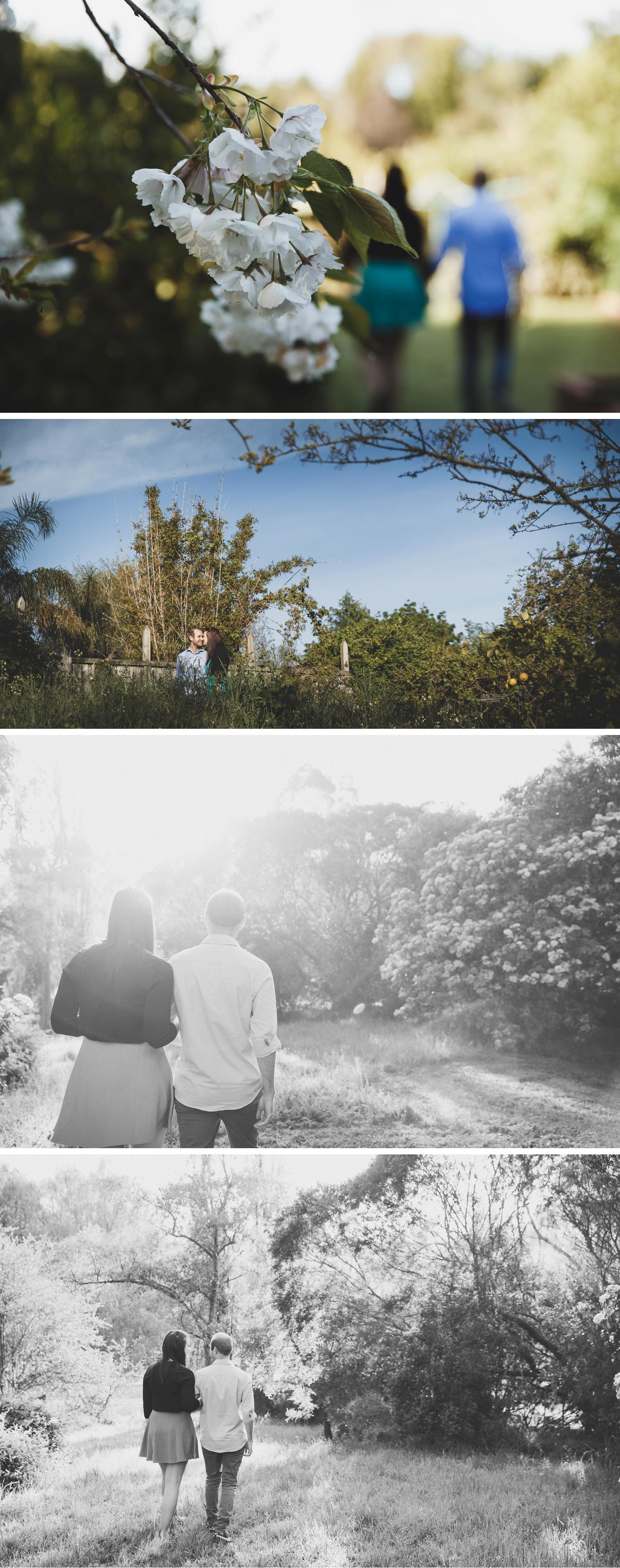 Gippsland Garden Engagement Shoot Beautiful Couple Embracing by Danae Studios