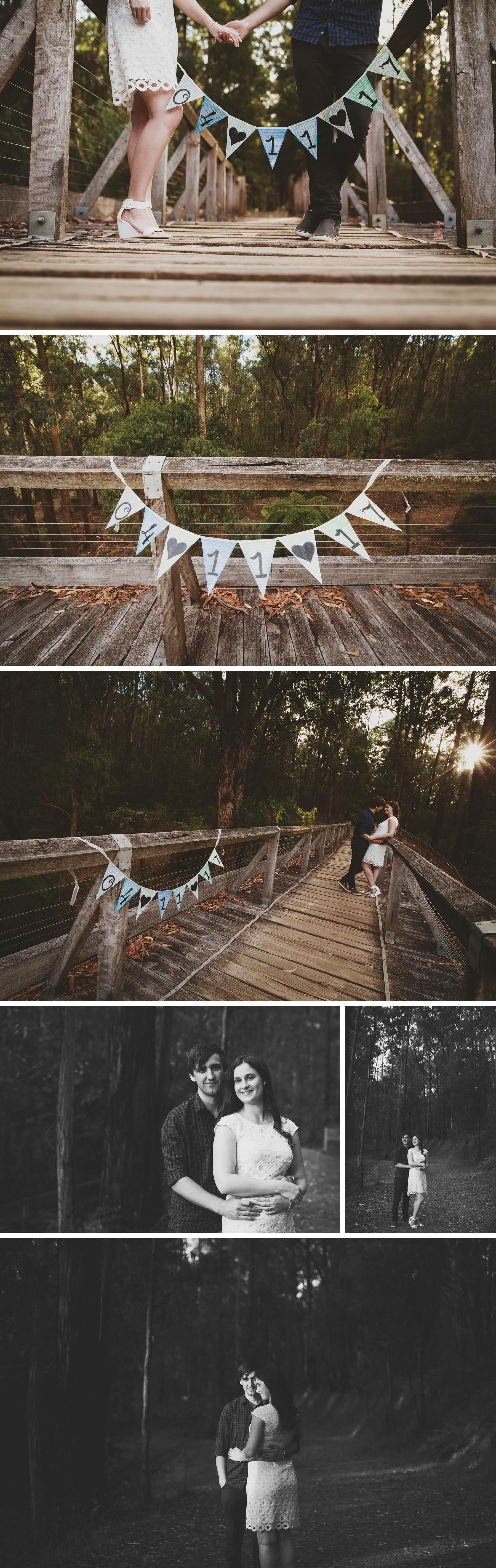 Noojee Tressle Bridge Photos, Engagement Shoot Noojee Victoria, Rainforest Shoot by Danae Studios