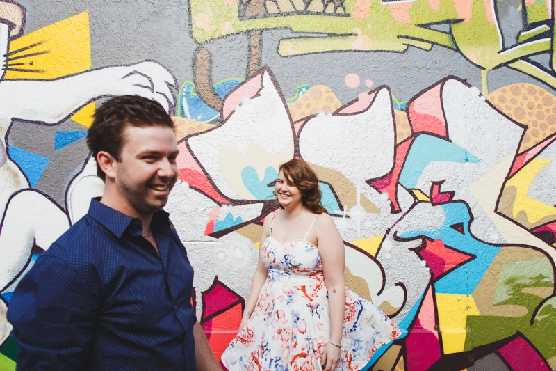 Traralgon Engagement Photography, Fun Graffiti Photographs, Little Prince Eating House