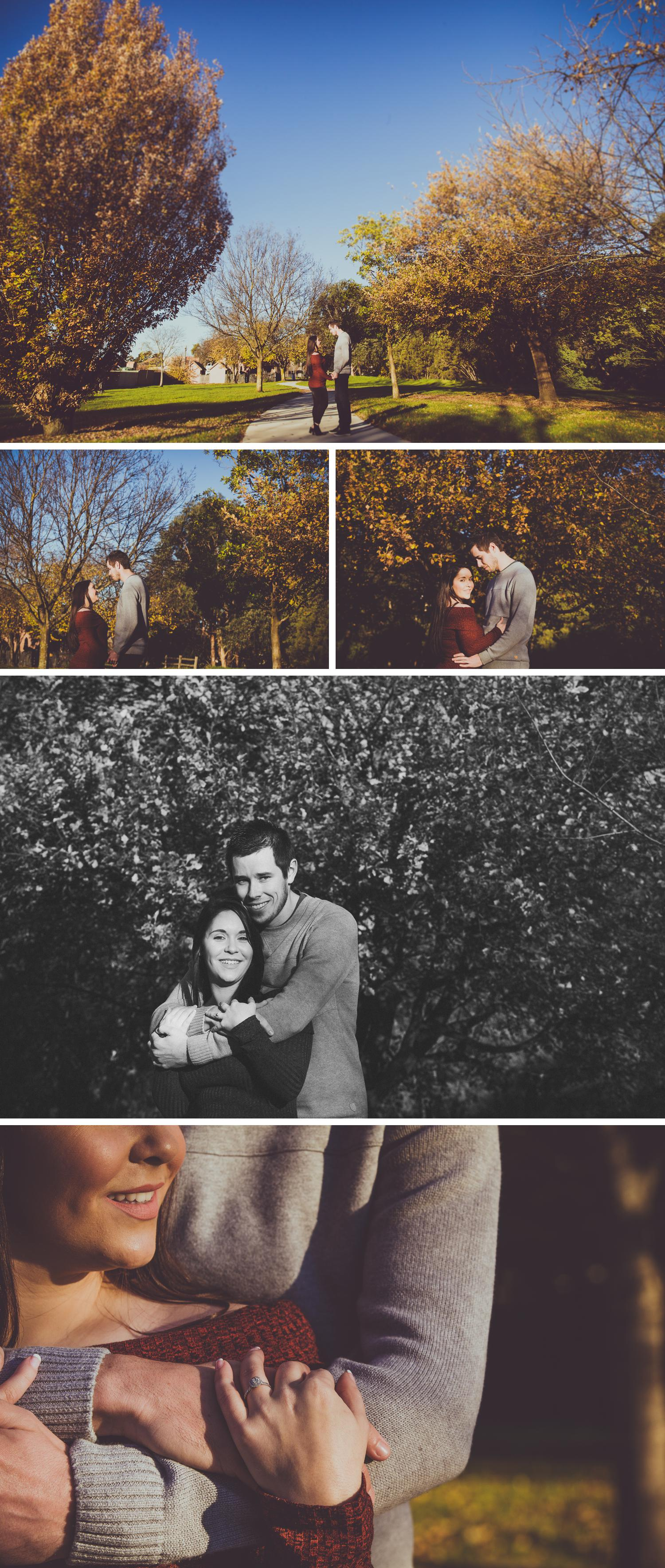 Park Photoshoot Engagement Shoot, Couple Embracing, Soft Light by Danae Studios