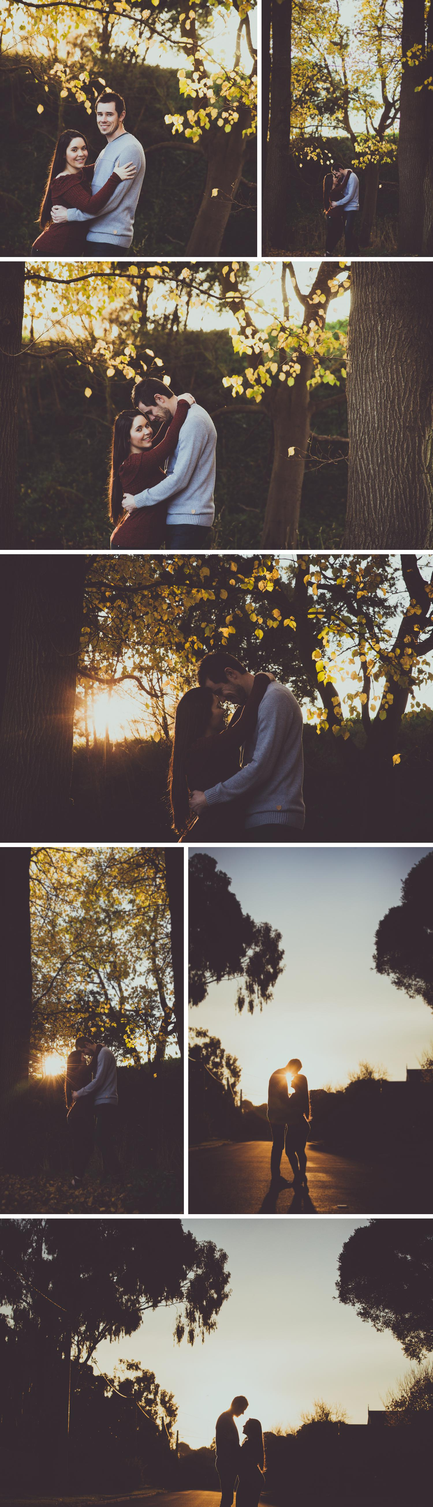 Park Photoshoot Engagement Shoot, Couple Embracing, Soft Light by Danae Studios