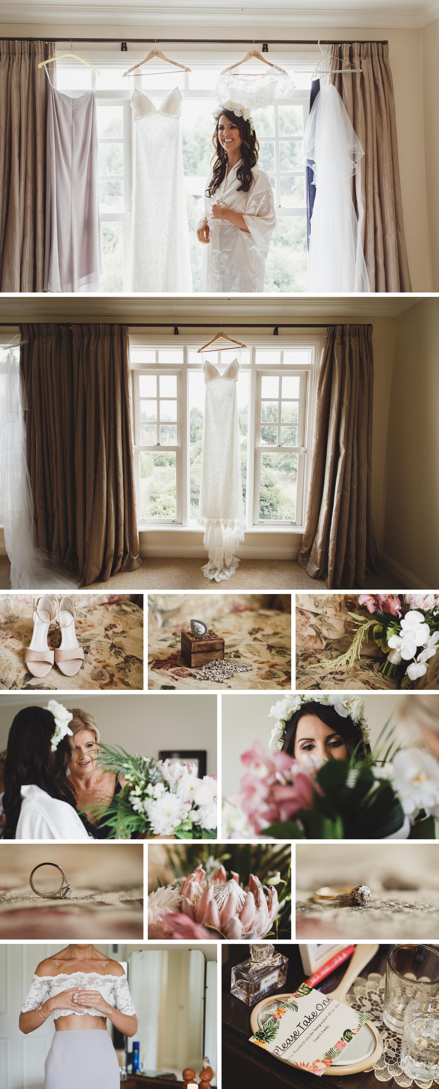 Tropical Boho Wedding, Rural Wedding on Family Property, Detail Wedding Photo by Danae Studios