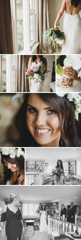 Tropical Boho Wedding, Rural Wedding on Family Property, Beautiful Bride Close Up Shot Wedding Photo by Danae Studios