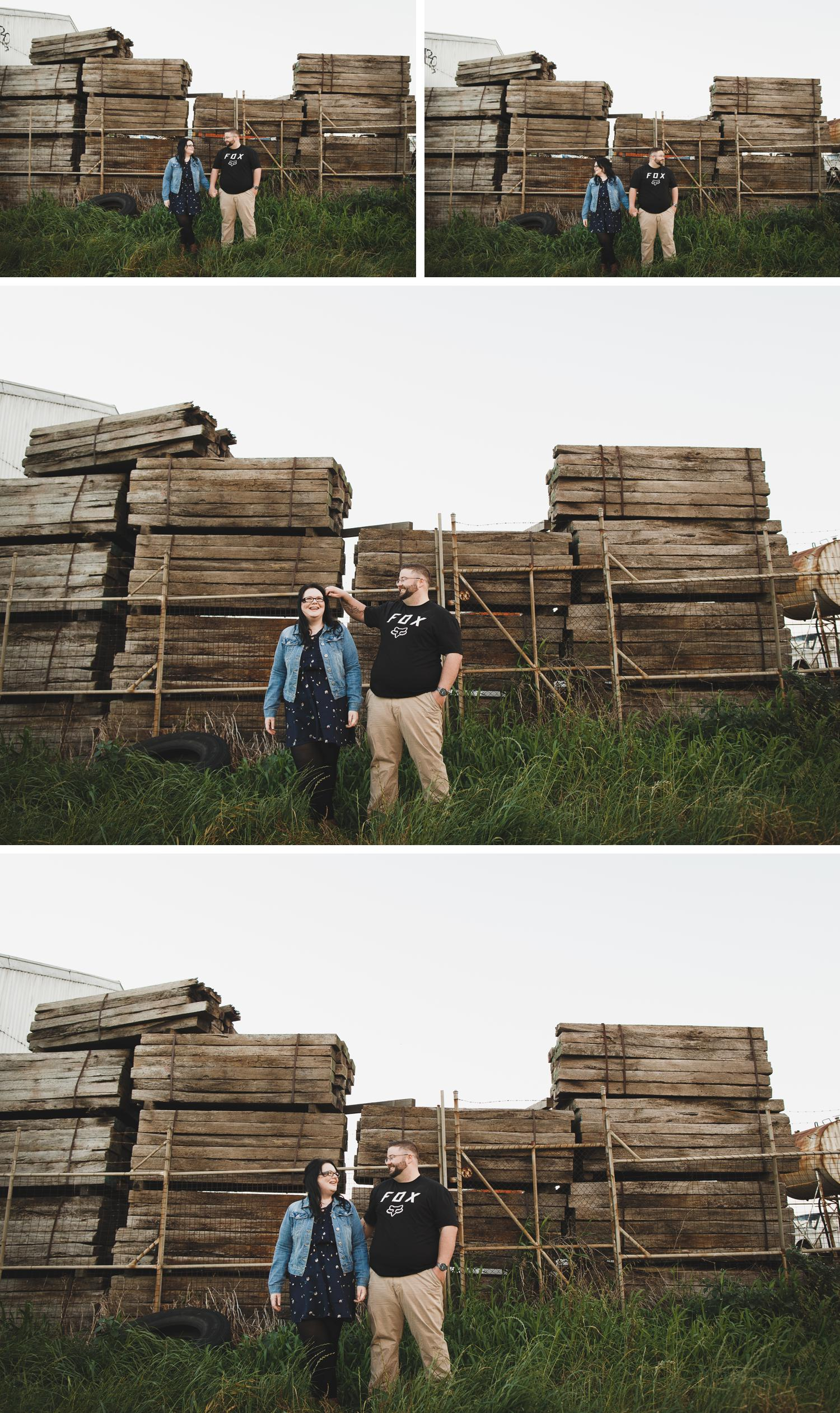 Junkyard Engagement Shoot, Railway Shoot Engagement, Momos Traralgon Engagement Shoot by Danae Studios