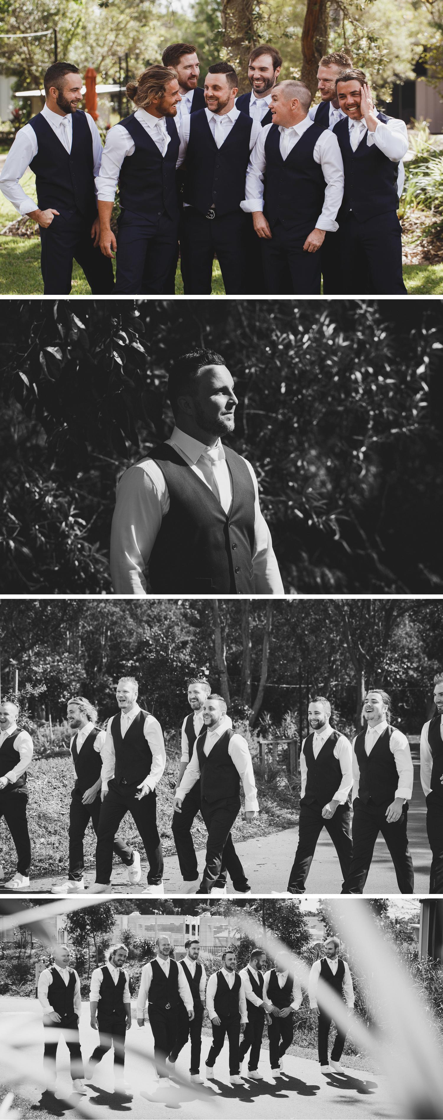 Byron Bay Victoria Wedding Photos, Byron Bay Surf Club Wedding, Groom Getting Ready Wedding Photos by Danae Studios