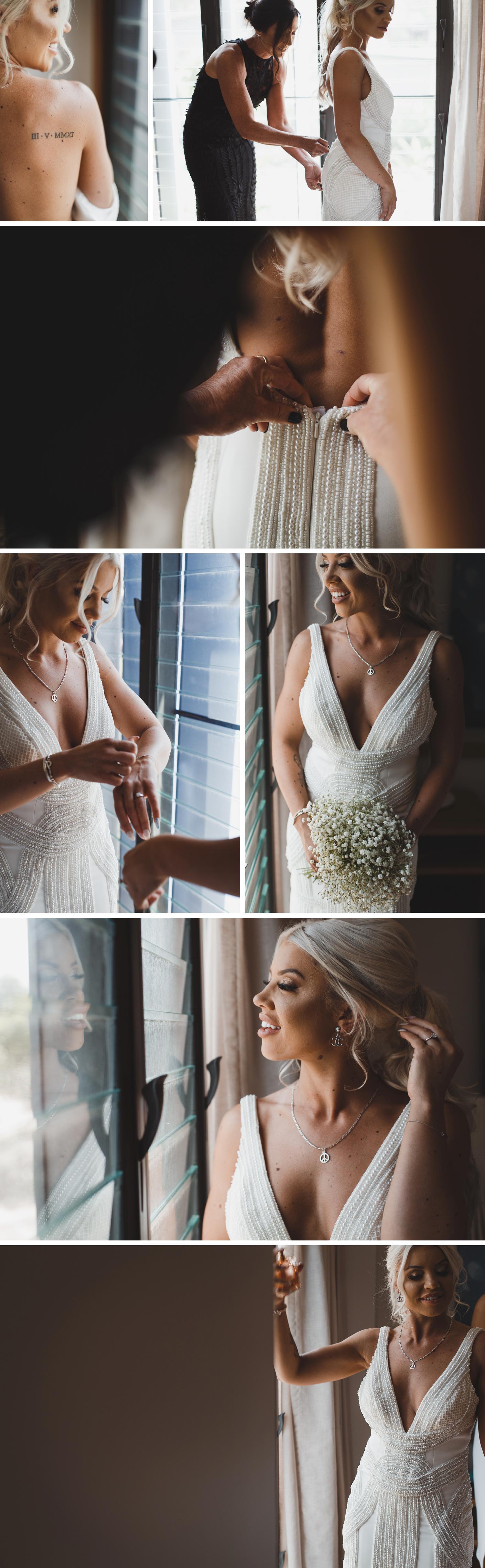 Byron Bay Victoria Wedding Photos, Byron Bay Surf Club Wedding, Beautiful Bride Getting Ready Wedding Photos by Danae Studios