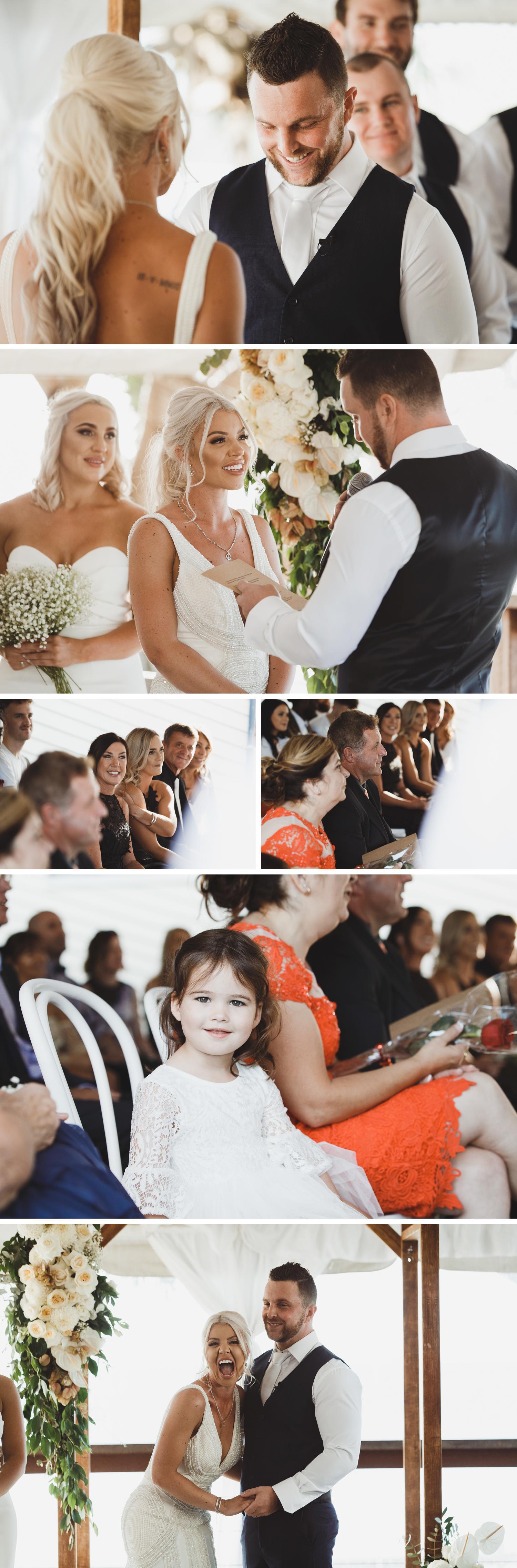 Byron Bay Victoria Wedding Photos, Byron Bay Surf Club Wedding, Bride Walking Down the Aisle Wedding Photos by Danae Studios