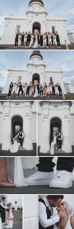 Byron Bay Victoria Wedding Photos, Byron Bay Lighthouse, Byron Bay Surf Club Wedding, Big Bridal Party Wedding Photos by Danae Studios