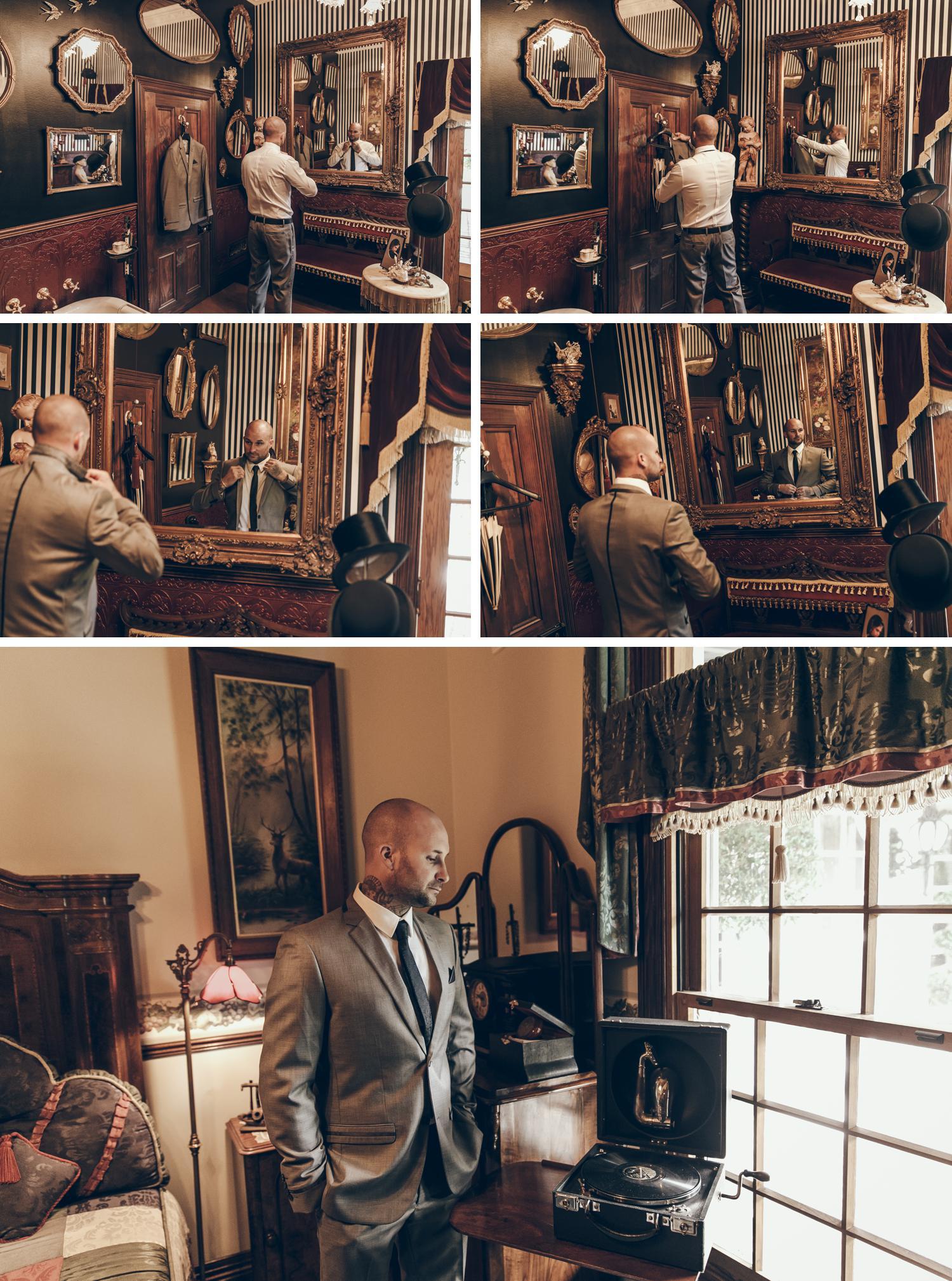 Rural Gippsland Wedding Photos, Intimate Property Wedding Photos Groom Getting Ready by Danae Studios