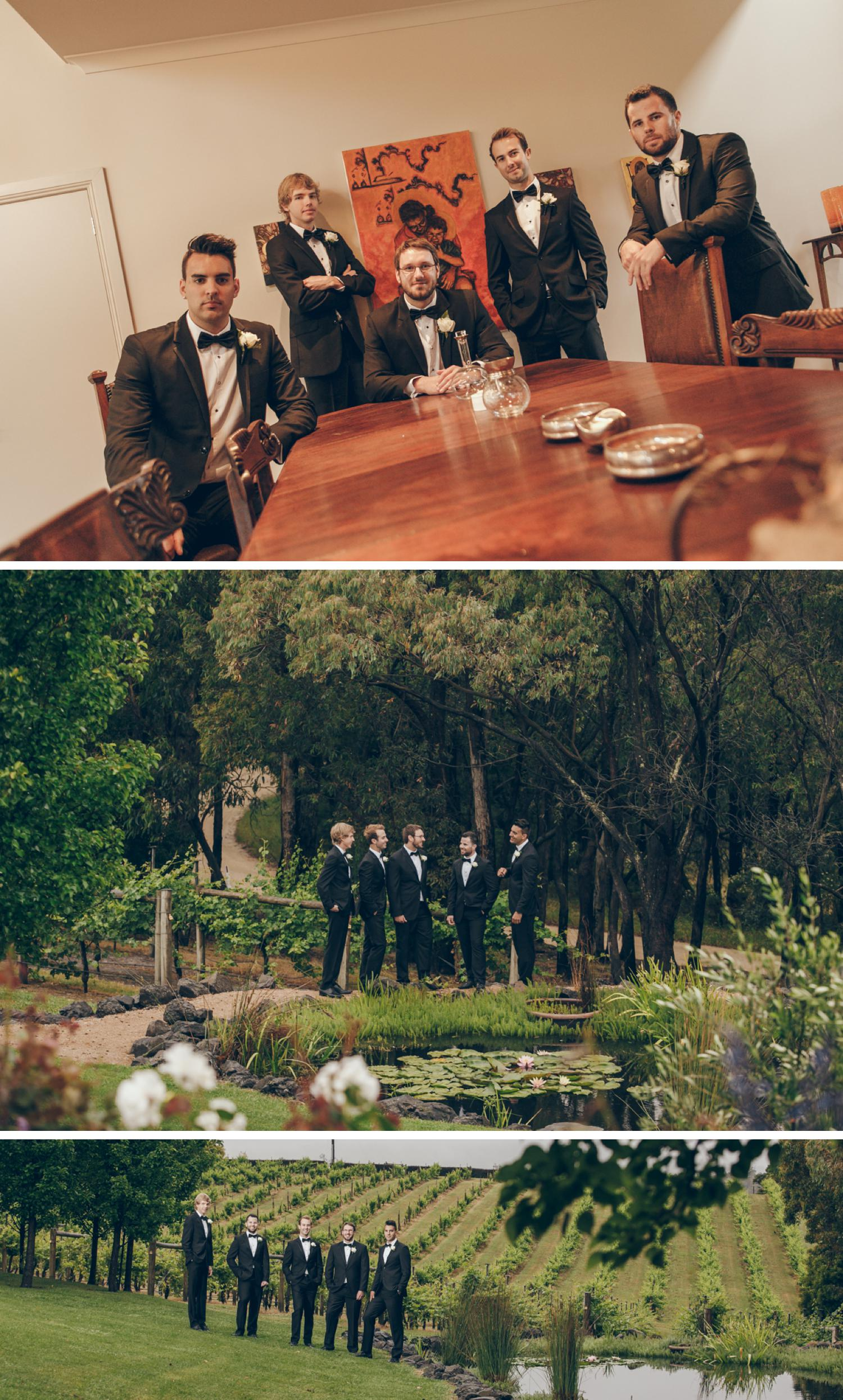 Tom's Cap Vineyard Gippsland Wedding Photo, Vineyard Wedding Photos by Danae Studios, Groom Getting Ready