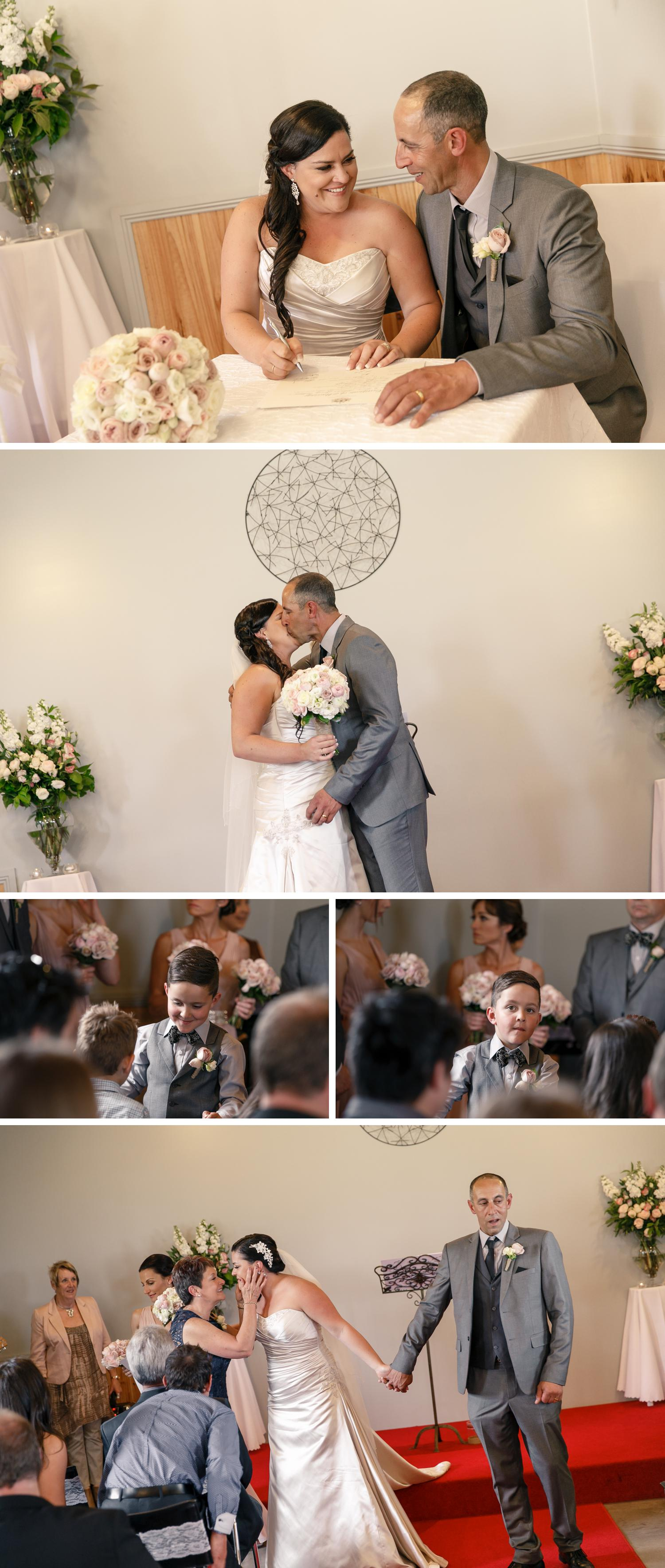 Traralgon Gippsland Wedding, Bride and Groom Embracing, Beautiful Wedding Dress Photo by Danae Studios