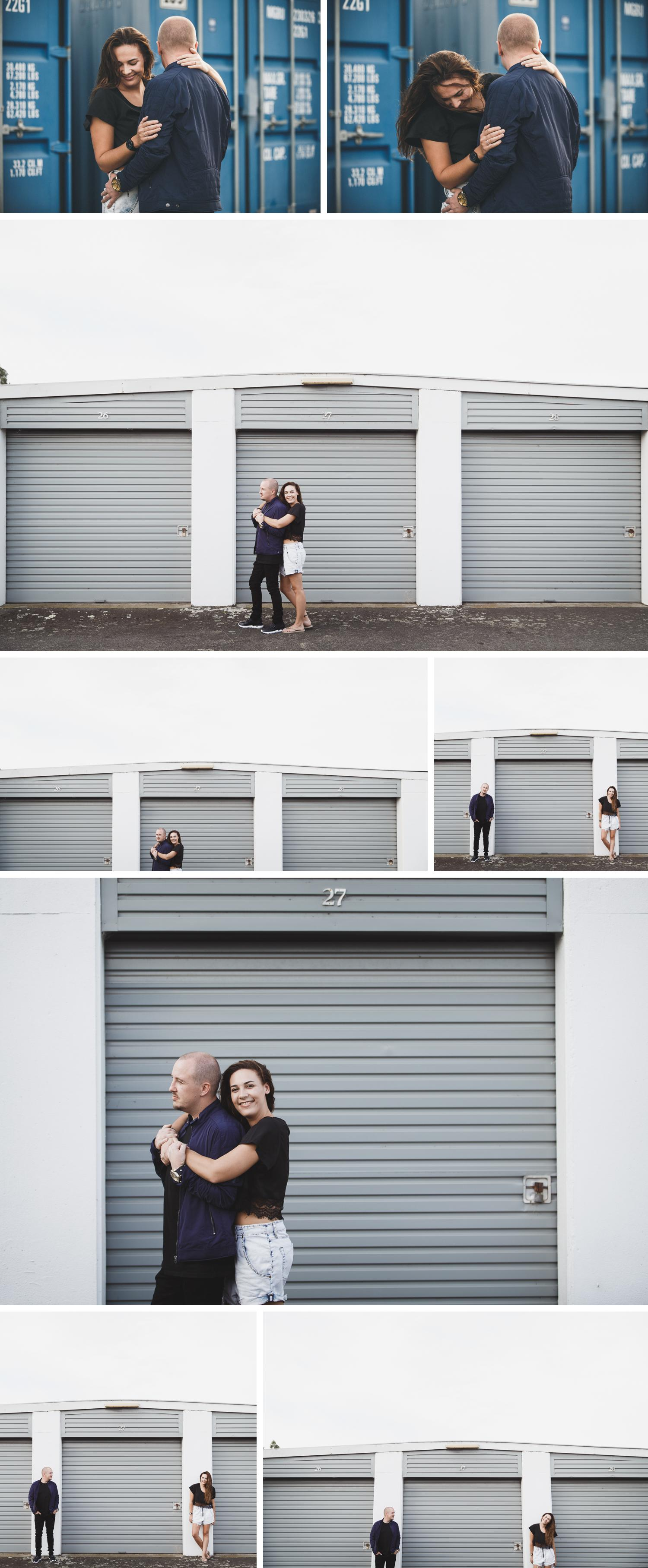 Shipping Containers Engagement Shoot, Gippsland Engagement Shoot, Cute Couple Photos by Danae Studios, Couple Embracing