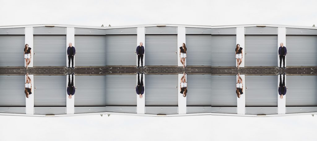 Shipping Containers Engagement Shoot, Gippsland Engagement Shoot, Cute Couple Photos by Danae Studios, Couple Embracing, Panorama Photo