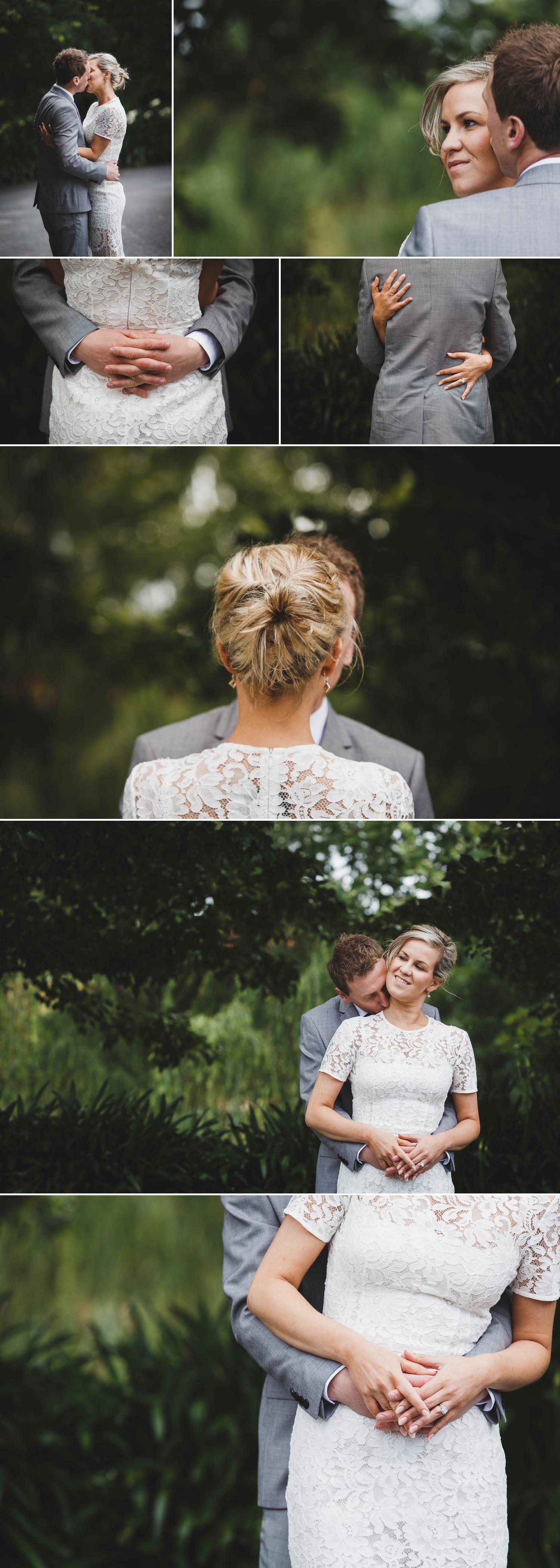 Beautiful Garden Wedding Morwell Gippsland, Bride and Groom Embracing, Wedding Flowers Photo by Danae Studios