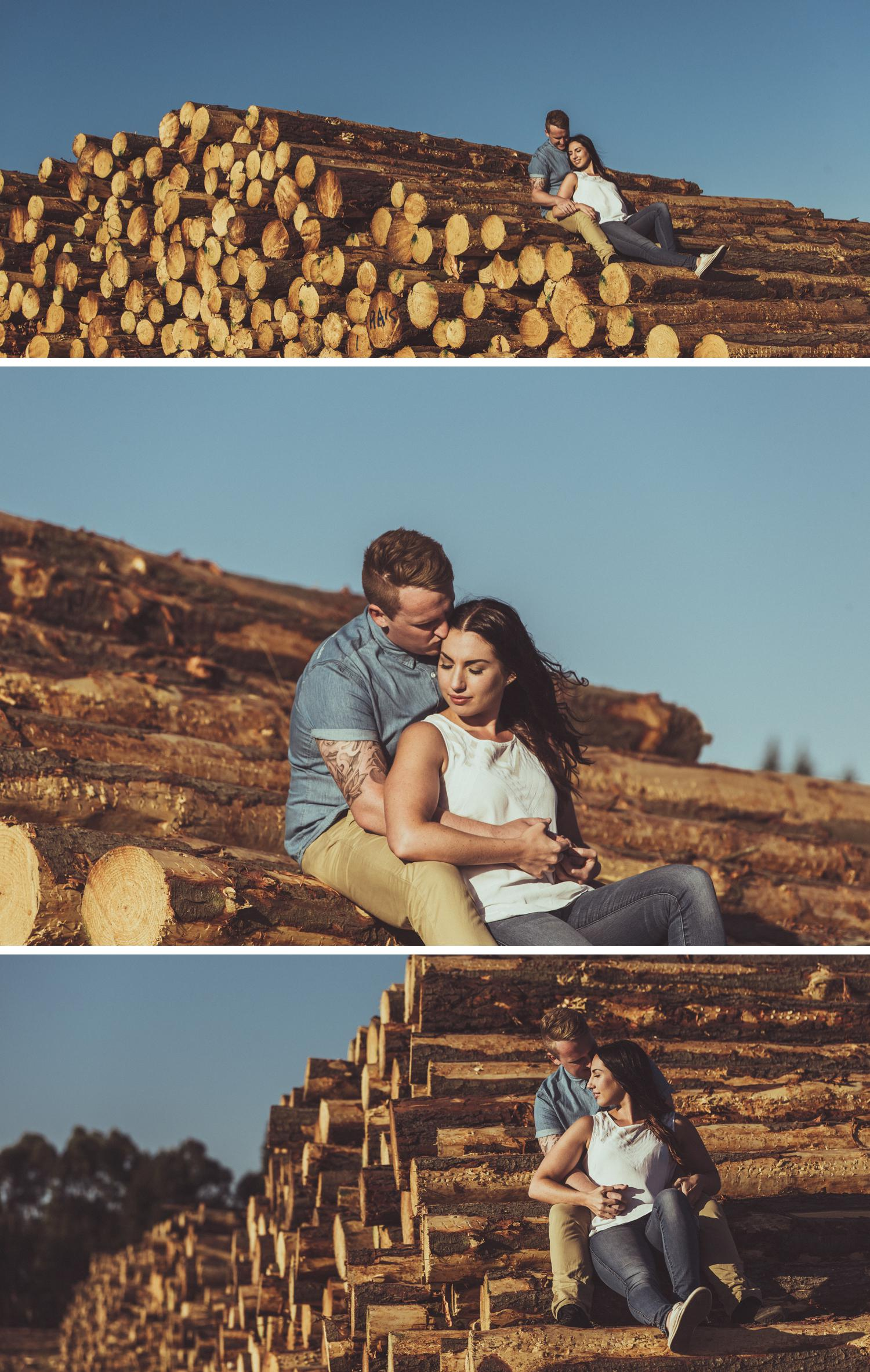 Plantation Engagement Shoot Gippsland, Gorgeous Couple Engagement Photos by Danae Studios, Couple Embracing, Trees Photos, Field Photoshoot