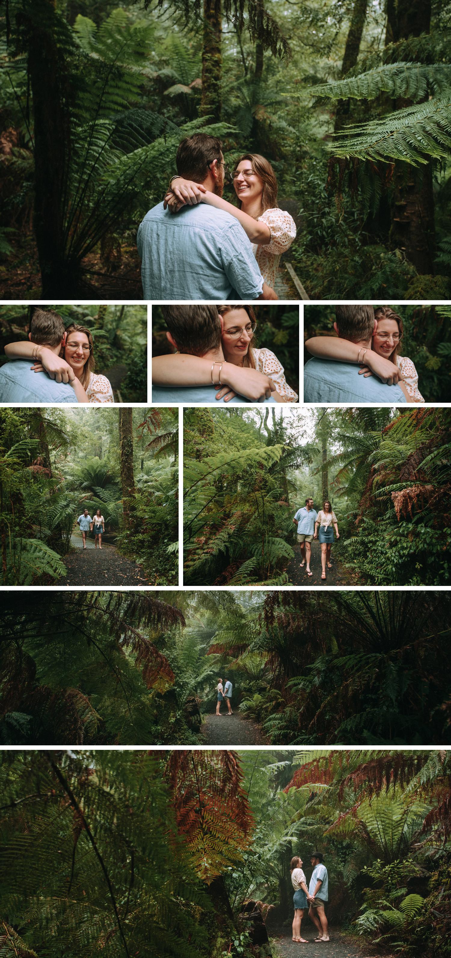 Tara Bulga Engagement Shoot Rainforest Wedding Gippsland Beautiful Wedding Photos by Danae Studios
