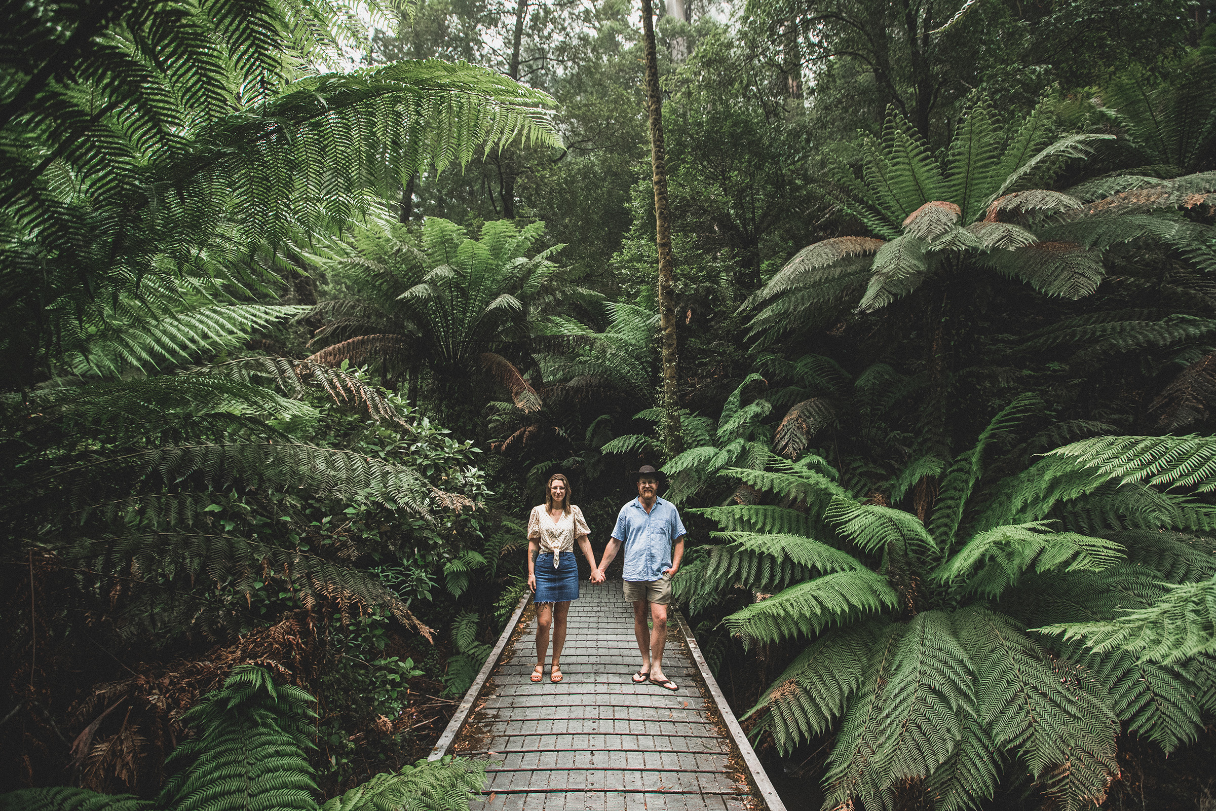 Tara Bulga Engagement Shoot Rainforest Wedding Gippsland Beautiful Wedding Photos by Danae Studios