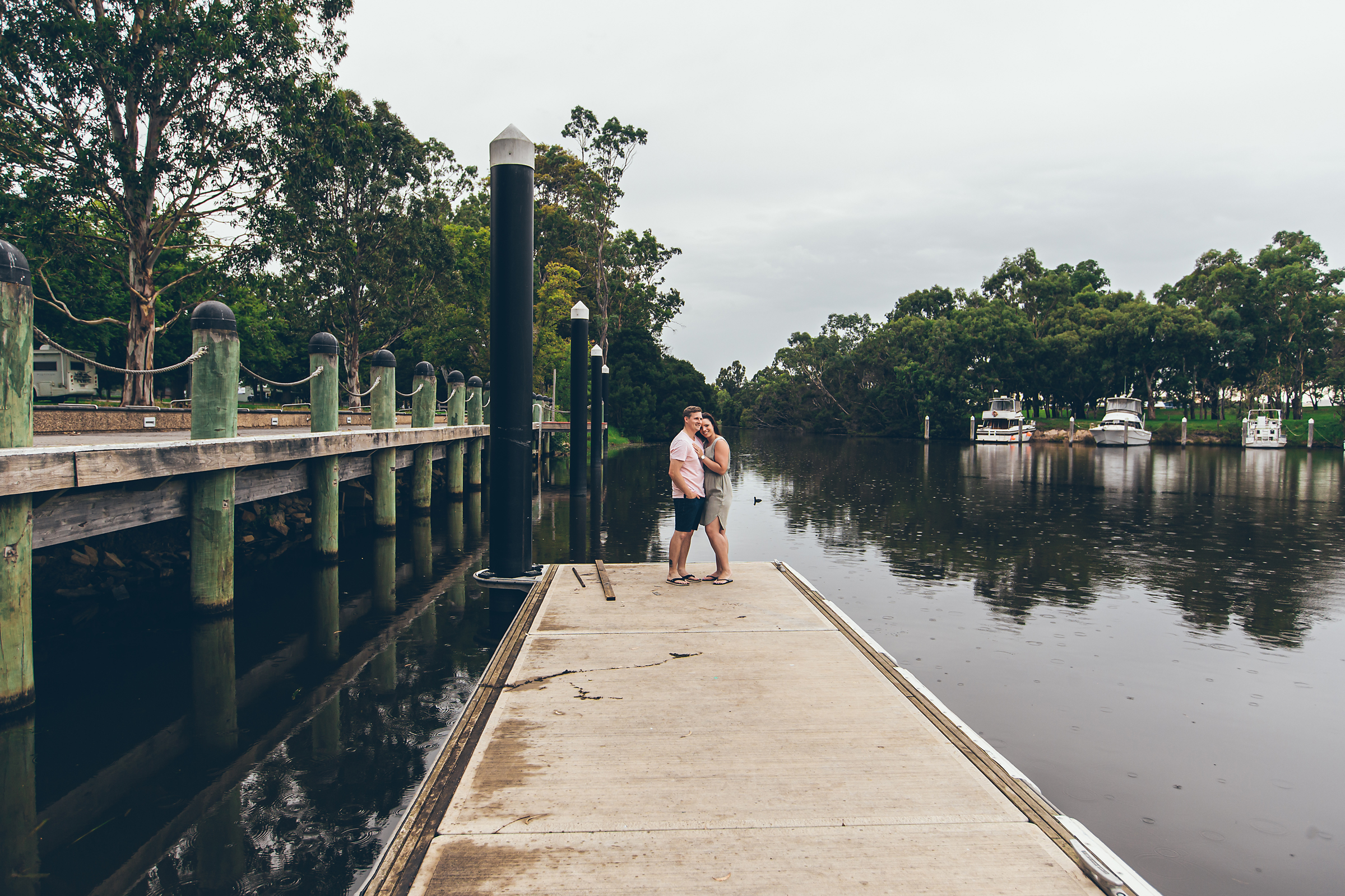 Engagement Shoot Street Gippsland Beautiful Wedding Photos Couple Embracing by Danae Studios