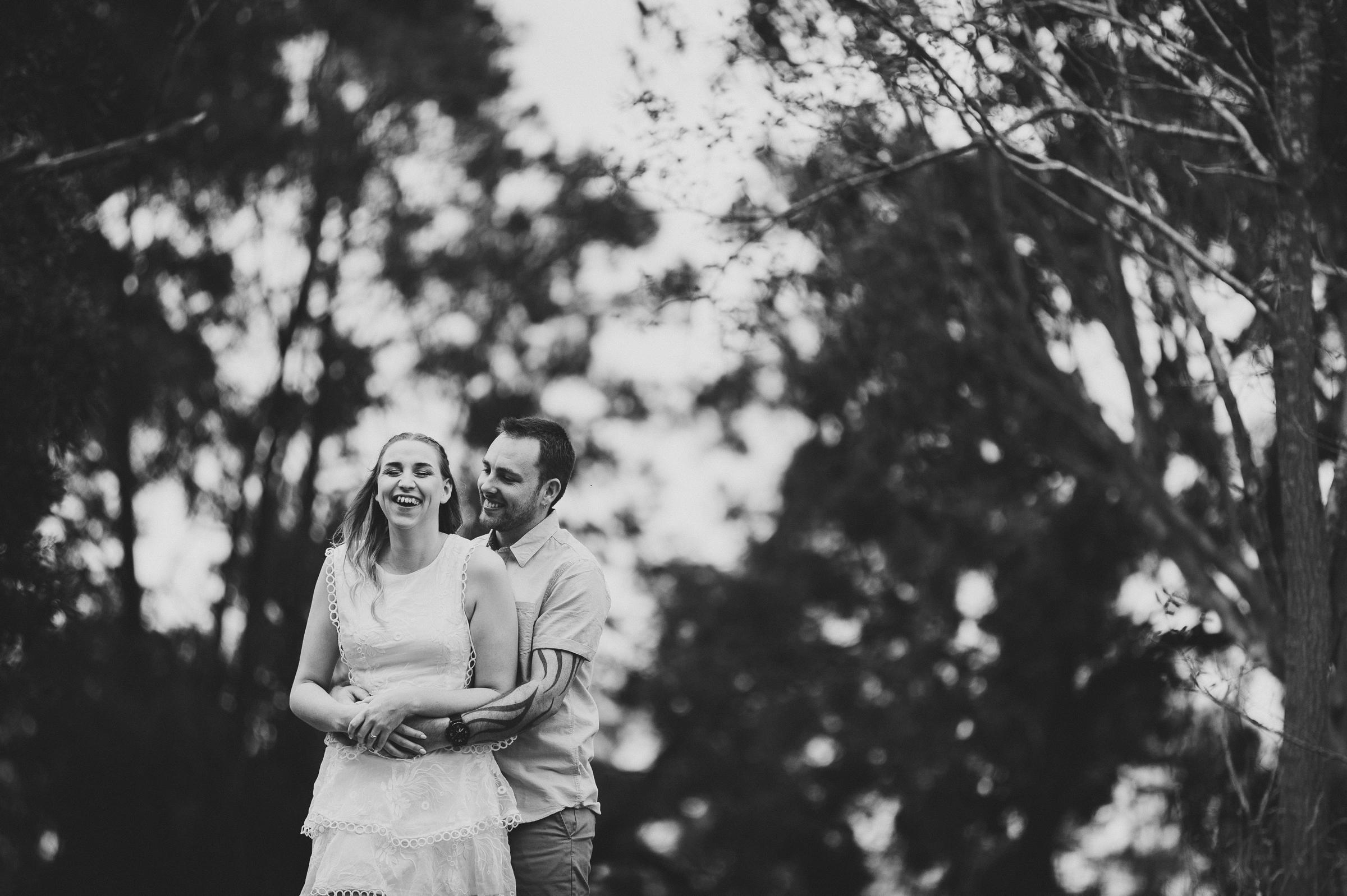 Bush, Rural Engagement Shoot by Wedding Photographer in Gippsland